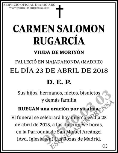 Carmen Salomon Rugarcía